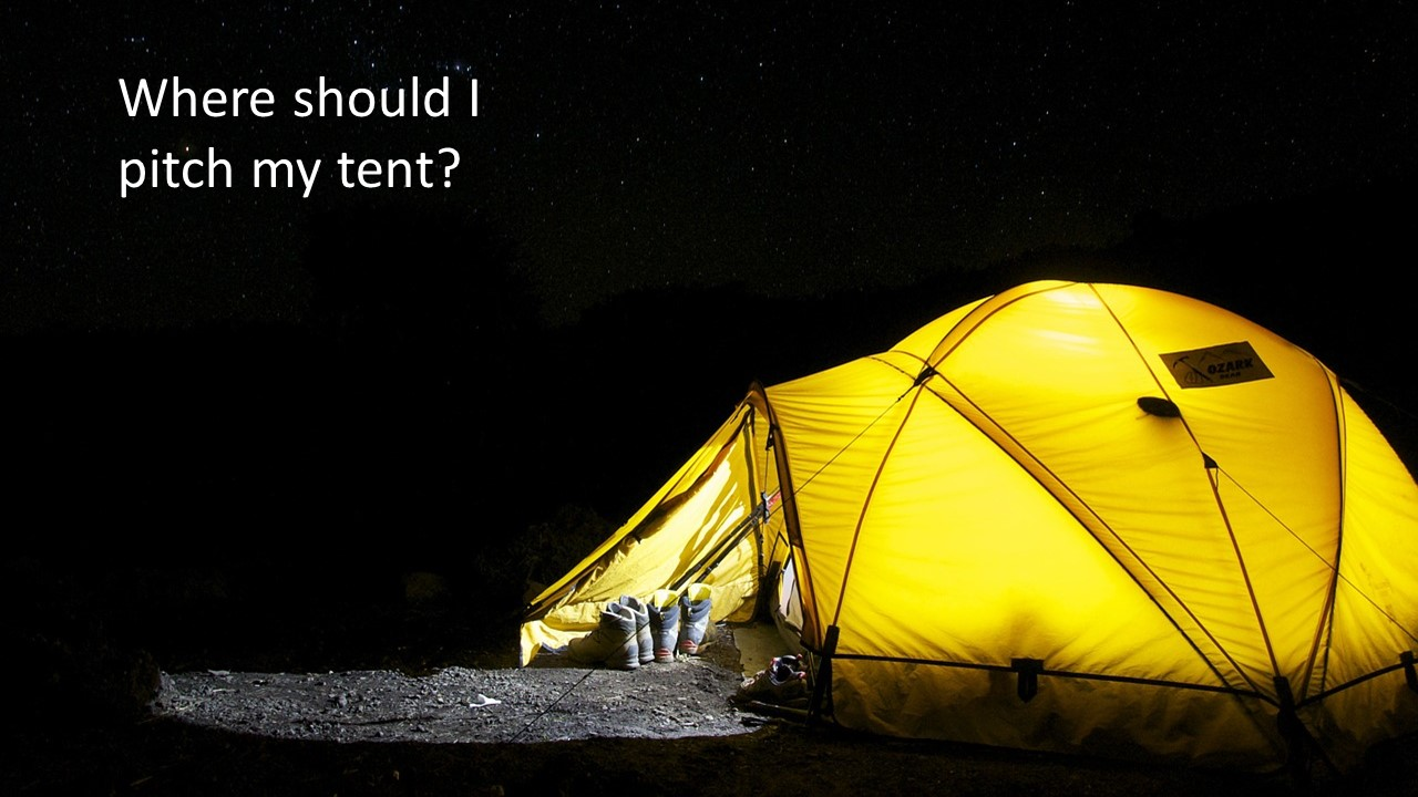 Pitching our Tents