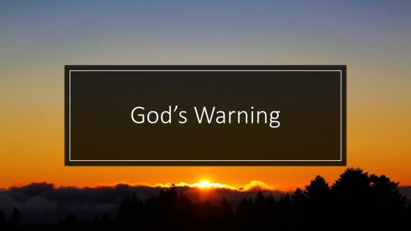 God's Warning