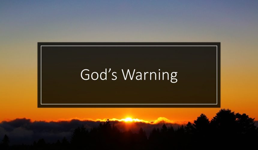 God's Warning