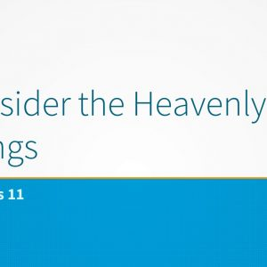 Consider the Heavenly Things