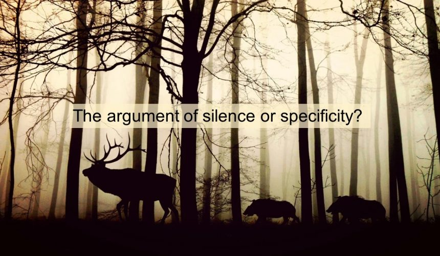The Argument from Silence